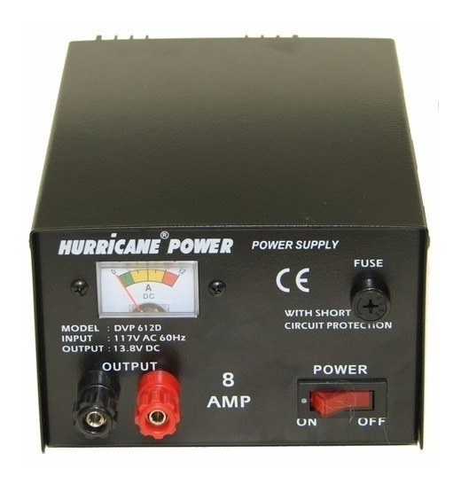 Fuente De Poder Regulada 12v 8a Hurricane Power Original