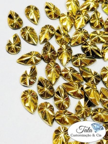 Pedraria De Unha Gold 5x8 500pcs