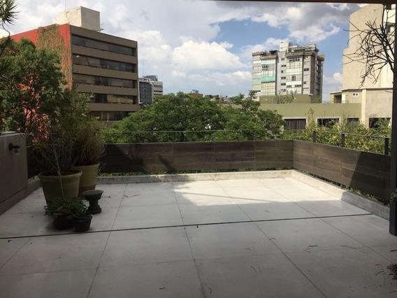 Renta Hermoso Loft Con Terraza Privada En Cerrada Veracruz , Condesa