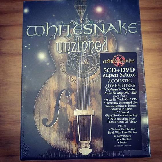 Whitesnake Unzipped 5 Cds + Dvd Box Set Super Deluxe