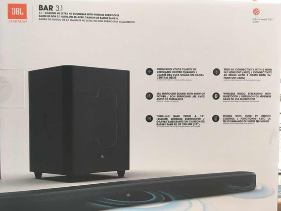 Equipo Sonido De Barra Jbl De 3.1