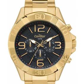 Relógio Condor Masculino Cronógrafo Covd54bd/4p Dourado + Nf