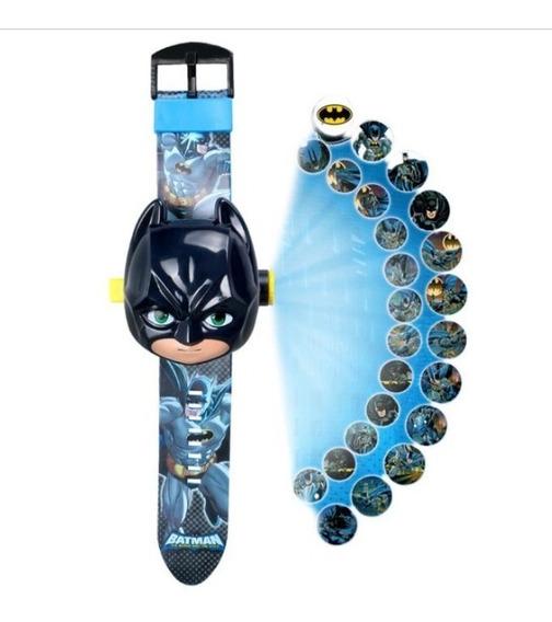 Relógio Tema Herois Projetor De Luz Com 24 Imagem Infantil