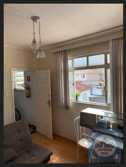Apartamento Com 1 Dormitório À Venda, 60 M² Por R$ 245.000 - Campo Grande - Santos/sp - Ap4840