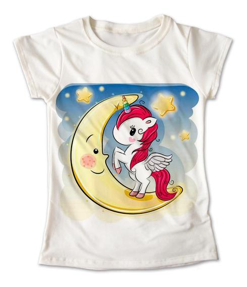 Blusa Unicornio Colores Playera Estampado Luna 024