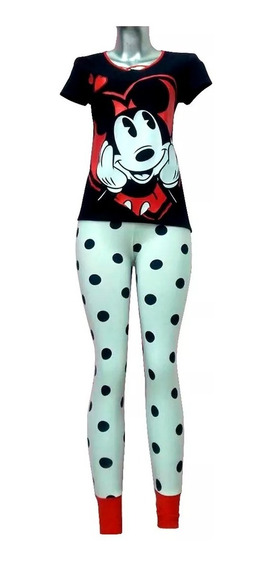 Pijama Dama Blusa Pantalon Legging Mickey Mouse Disney 9220