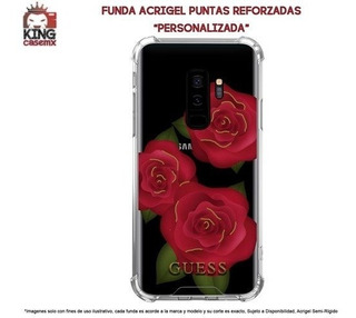 Funda Acrigel Guess Lujo Galaxy S5 S6 Edge S8 Plus S9 Plus