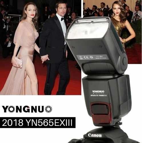 Flash Para Canon Yongnuo Lançamento Funçao Ttl Yn 565 3 Iii