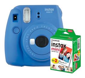 Câmera Instantânea Instax Fujifilm Mini 9 Cobalto+filme 20