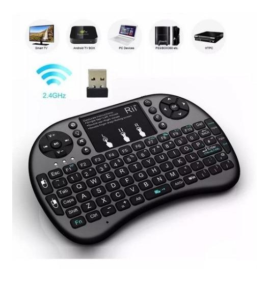 Mini Teclado Touch Sem Fio P/ Smart Tv Box Celular Pc Game