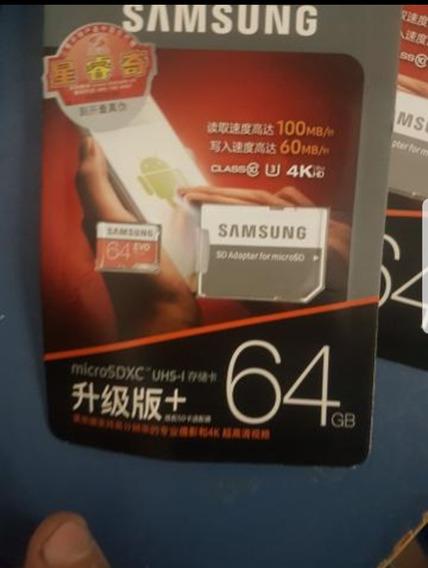 Microsd Cartão De Memória Samsung Evo 64gb