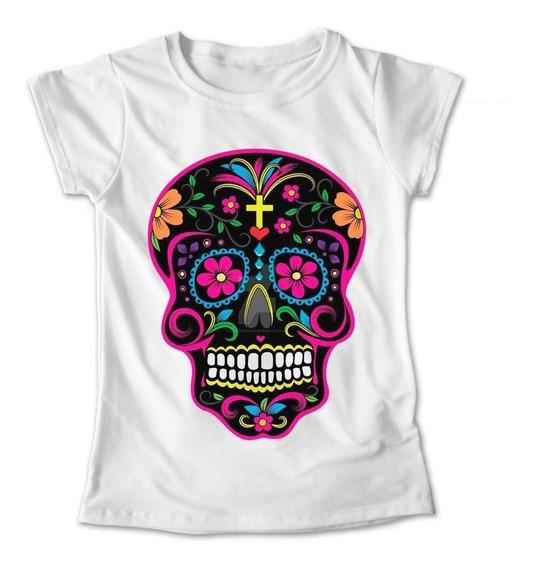 Blusa Colores Playera Flores Calaveras Dia De Muertos #271