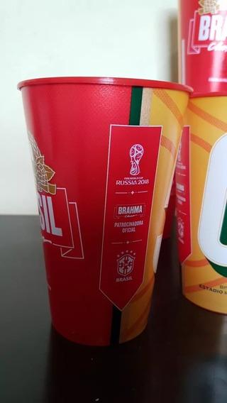 Coleção 6 Copo Oficial Futebol Brahma Copa Do Mundo 2018