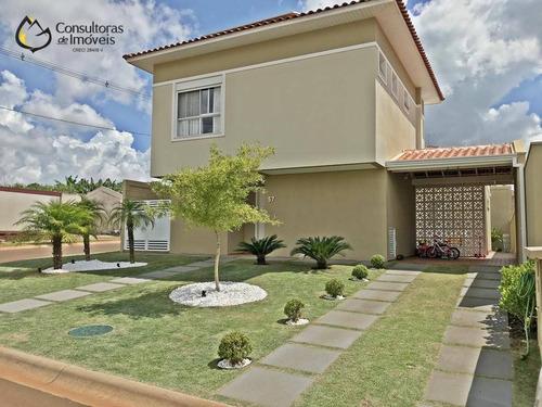 Casa Com 3 Dormitórios À Venda, 165 M² Por R$ 850.000,00 - Condomínio Porto Alegre - Paulínia/sp - Ca1551