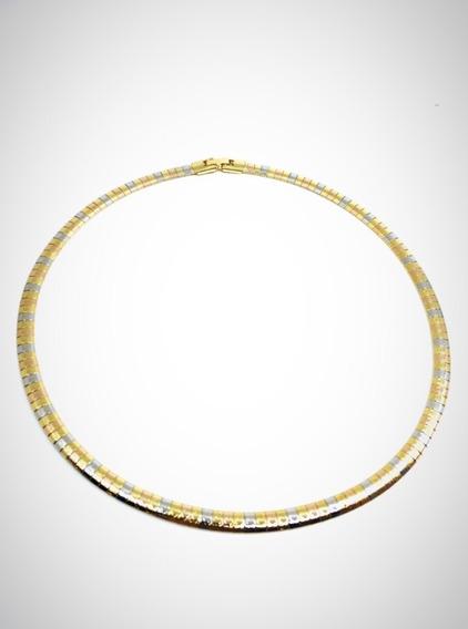 Collar Omega Florentina Baño De Oro De18 Kilates Vogary