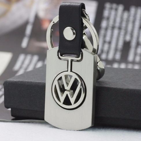 Chaveiro Volkswagen Vw Golf Jetta Saveiro Aço E Couro