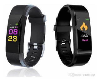 Smart Band Id115 Plus Preto. Monitor De Freqüência Cardíaca