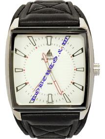 Relógio Masculino Pulseira Bracelete Couro Pronta Entrega