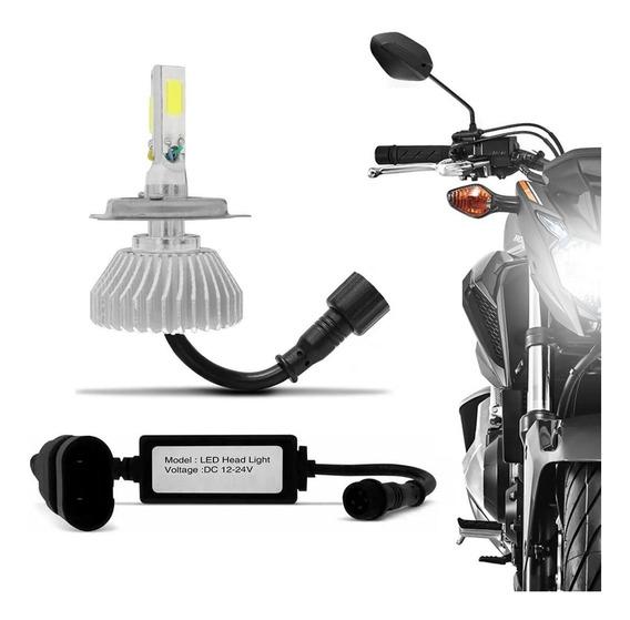 Lampada Super Led Moto Biz 125 2016 Até 2019 H4 6000k