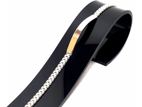 Er04 Esclava Tejido Rolex Plata Ley .925 Taxco 22cm13gr8mm