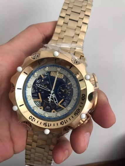 Relógio Nbp5698 Invicta 16855 Hybrid Skeleton Dourado Frete Gratis Com Caixa E Manual