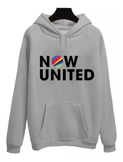 Blusa Moletom Canguru Now United Super Barato