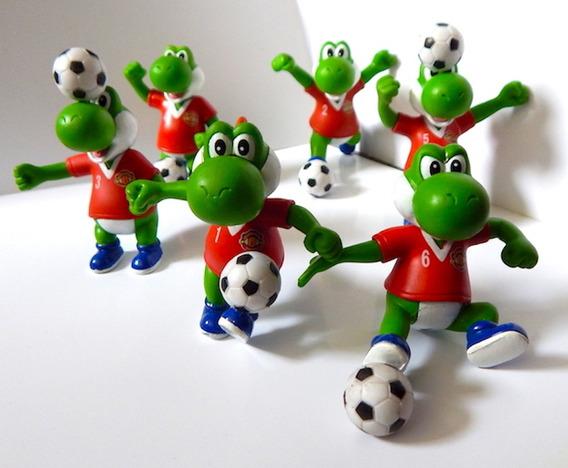 Mario Bros Set 6 Gashapon Yoshi Football Manchester United
