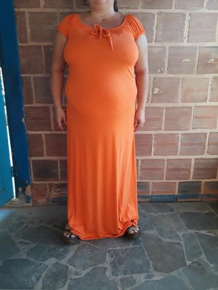 Vestido Longo Ciganinha Casual Plus Size Verão Novo C 450