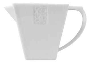 Cremera Cuadrada Moderno Porcelana Blanco Crown Baccara