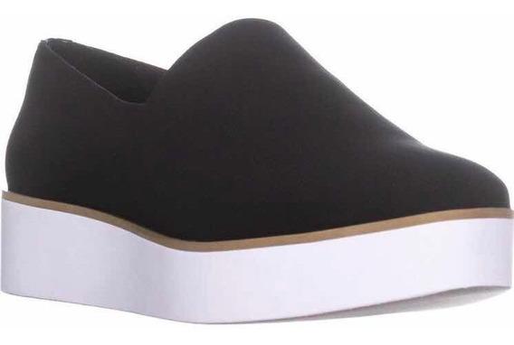 Tênis Preto Robert Stretch Slip On Platform Sneakers Dkny