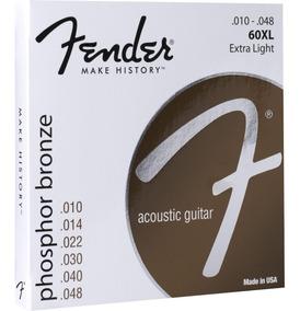 Encordoamento Fender Violão Phosphor Bronze 0.10/0.48 60xl