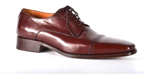 Zapatos Giardini De Cuero Color Guinda Para Hombre - Mónaco