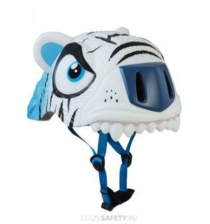 Casco Niño Crazy Safety Tigre Blanco