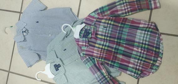 Lote De Camisas Ralph Lauren Niño Talla 3