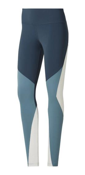 Reebok Calza Running Mujer Os Lux Tight Azul - Celeste - Bco