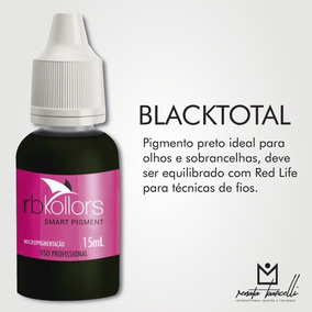 Pigmento Rb Kollors (renata Barcelli) 15ml - Total Black