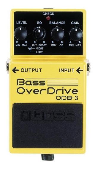 Pedal Bass Overdriver Boss Para Baixo Odb-3 Super Promoção