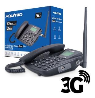 Telefone Aquario Ca-42s Celular De Mesa Rural 3g Dual Chip