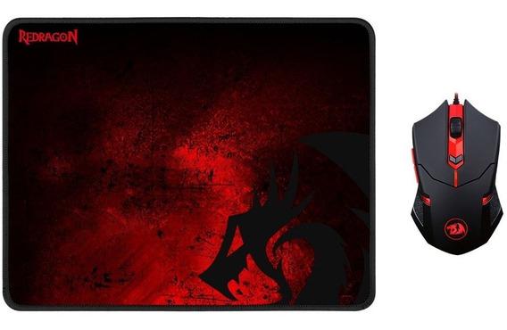 Kit Gamer Mouse E Mousepad Redragon M601-ba