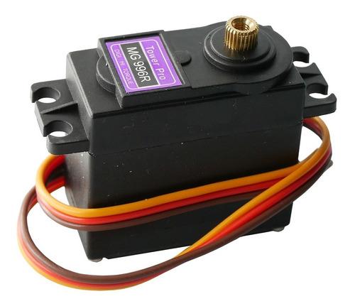 Imagen 1 de 10 de Servo Mg996r Digital Motor Con Accesorios 10kg Torque Metal