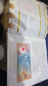 C 331 - 10 Reais No Folder Do Banco Central,serie 0001