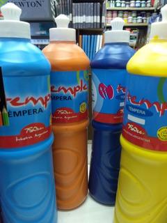 Tempera Pote 750ml Varios Colores Temple Escuela / Jardín