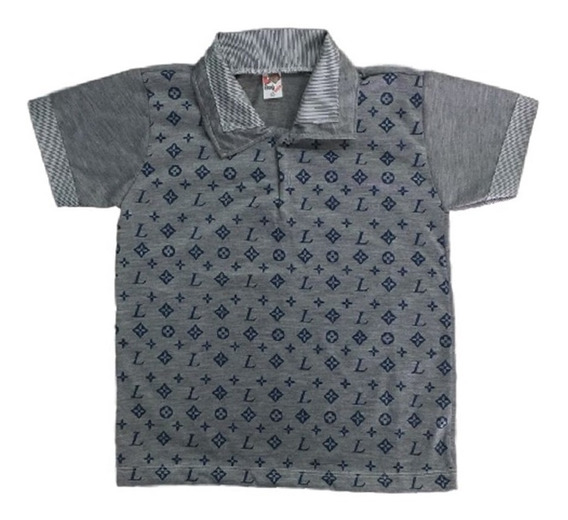 03 Camisa Camiseta Polo Infantil Menino Roupas Atacado