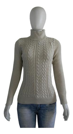 Kit 2 Blusas Feminina Cacharrel Gola Alta Trico Inverno Frio