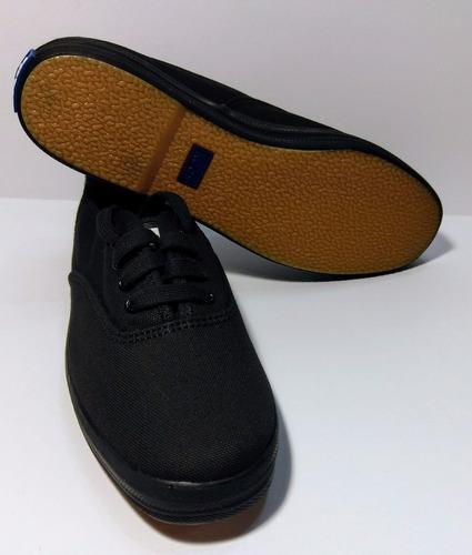 zapatos keds originales cuero negro