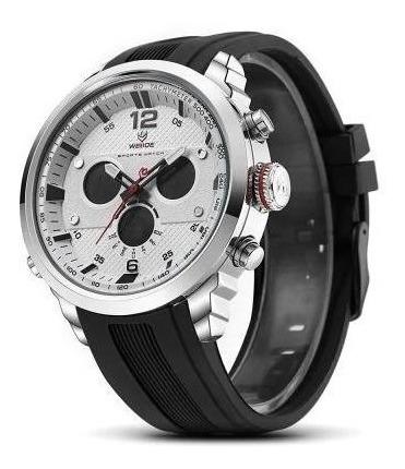Relógio Esportivo Masculino Externo Weide Wh6303 Branco