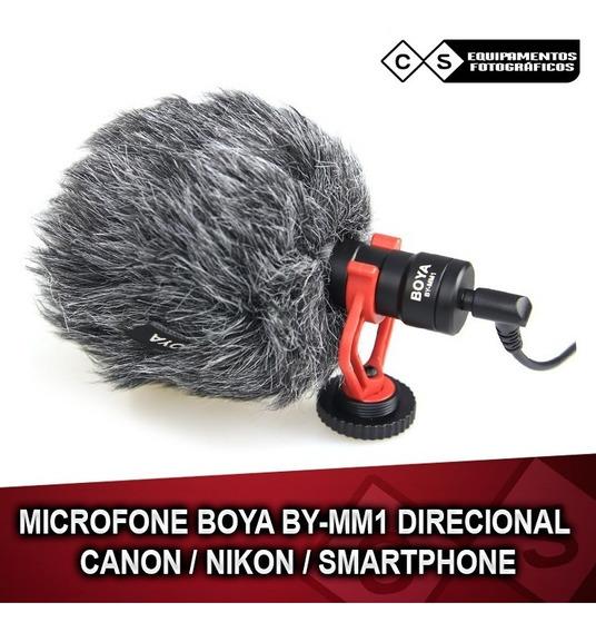 Microfone Boya By-mm1 Direcional Canon / Nikon / Smartphone