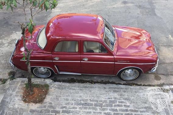 Renault Gordini 1963 63 - Original - Placa Preta - Vermelho