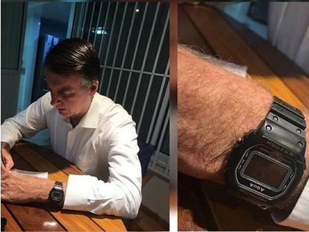Relógio Presidente Bolsonaro Digital Aqua Prova D Água
