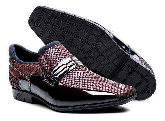 Sapato Social Masculino Confortável Couro Calvest